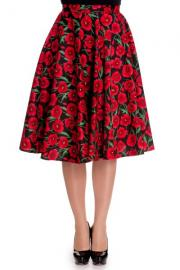 Red Poppy 50's Swing Skirt by Hell Bunny