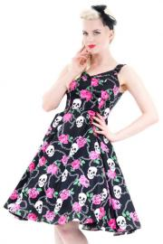 Skull Roses and Chains 50's Rockabilly Dress - S ONLY