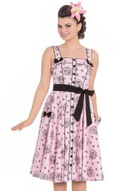 Keepsake Sugar Skull Pink 50's Dress by Hell Bunny