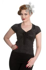 Angette Sparkle Black Top by Hell Bunny - 4X ONLY