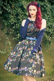 Audrey Owls Black Swing Dress by Lindy Bop