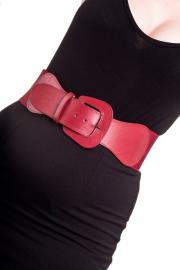 Rizzo Burgundy Red Belt by Hell Bunny