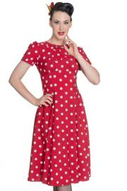 Madden Polkadot Red Dress by Hell Bunny