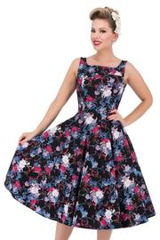 Black Dahlia Floral 50's Rockabilly Dress