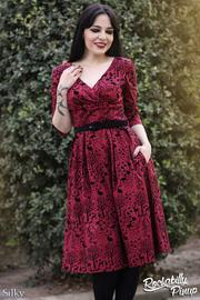 Sherwood Red 50's Dress by Hell Bunny