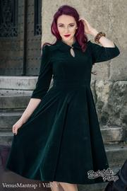 Glamorous Green Velvet 50's Tea Dress - PLUS SIZE ONLY