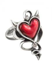 Devil Heart Ring by UL17 Alchemy