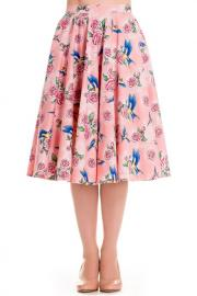 Lacey Pink 50's Rockabilly Swing Skirt by Hell Bunny