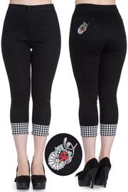 Ladybird Black Capri Trousers by Hell Bunny