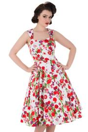Exotic Poppy Floral 50's Rockabilly Dress