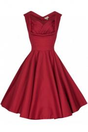 Ophelia Red Prom Swing Dress by Lindy Bop