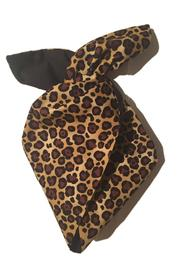 Leopard Print Rockabilly Hairband with Black Cotton