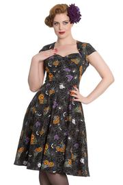 Harlow Halloween Print 50's Dress by Hell Bunny