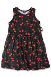 Cherries Black Rockabilly Dress for Girls