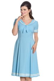 Ambleside Pastel Blue Nautical Style Dress - 3X ONLY