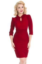 Glamorous Burgundy Red Velvet Wiggle Dress - UK16 ONLY