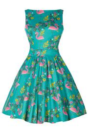 Tea Dress Summer Flamingo by Lady Vintage