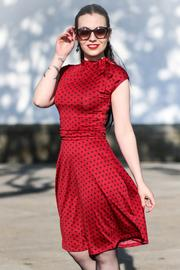 Dottie Red with Black Polkadot 50's Dress by Lindy Bop