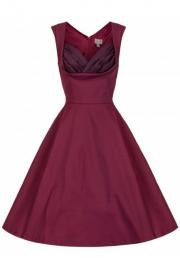 Ophelia Plum Prom Swing Dress by Lindy Bop - uk24 only