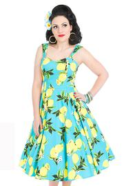 Vintage Blue Lemons 50's Dress by H&R London