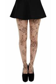 Floral Tattoo Tights