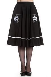 Full Moon Bats Black Cotton 50's Skirt by Hell Bunny