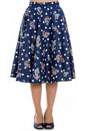 Oceana Anchors Blue 50's Skirt by Hell Bunny - XS ONLY