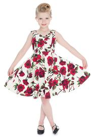 Ditsy Rose Floral Children's 50's Swing Dress