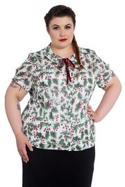 Holly Berry Blouse by Hell Bunny PLUS SIZE ONLY