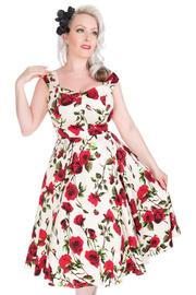 Ditsy Rose Floral 50's Rockabilly Summer Dress - L ONLY