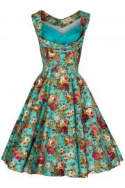 Ophelia Turquoise Floral Spring Garden Dress by Lindy Bop