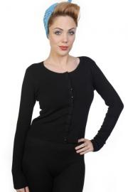Black Knit Cardigan by Banned