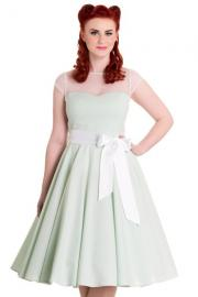 Maisy Mint Gingham 50's Dress by Hell Bunny - ONLY XXS XS LEFT