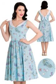 Sea Sparkle 50's Dress by Hell Bunny XXS ONLY