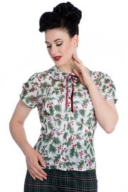 Holly Berry Blouse by Hell Bunny