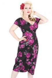 Violet & Grey Rose Floral Loretta Pencil Dress - UK10 ONLY