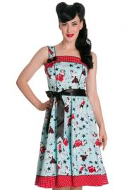 Dixie Blue 50's Dress by Hell Bunny