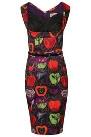 Vanessa Deep Purple Bad Apple Print Dress by Lindy Bop