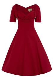 Sloane Red Swing Dress by Lindy Bop