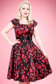 Red Roses 50's Rockabilly Dress by H&R London