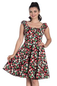 Strawberry Sundae Mid Dress by Hell Bunny