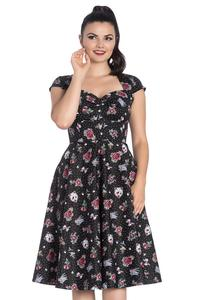 Stevie Tattoo Print 50's Dress by Hell Bunny