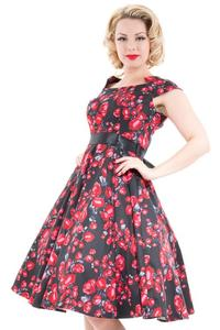 Red Roses 50's Rockabilly Dress by H&R UK10 ONLY