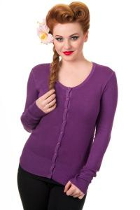 Grape Purple Knit Cardigan by Banned
