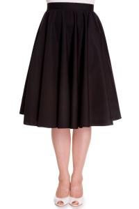 Paula Black Cotton 50's Rockabilly Swing Skirt - S ONLY