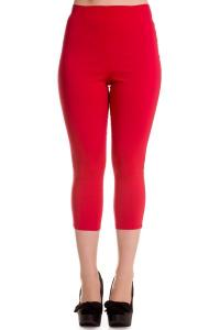 Tina Red Capri Trousers by Hell Bunny - 4X ONLY