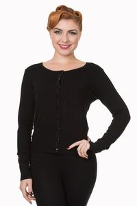 Black Knit Cardigan by Banned - 4X ONLY