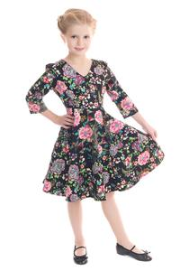 Romantic Bloom Girl's Rockabilly Dress