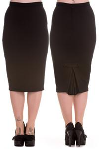 Joni Black Wiggle Pencil Skirt by Hell Bunny - XXS ONLY