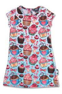 Cupcakes Rockabilly Print Dress for Girls